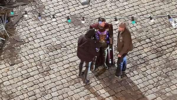 Кадр со съемок фильма Человек-паук: Вдали от дома