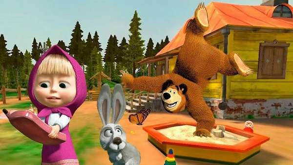 Кадр из мультсериала Маша и медведь